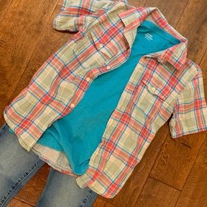Boys Old Navy Short Sleeve Button Down- Size 10/12